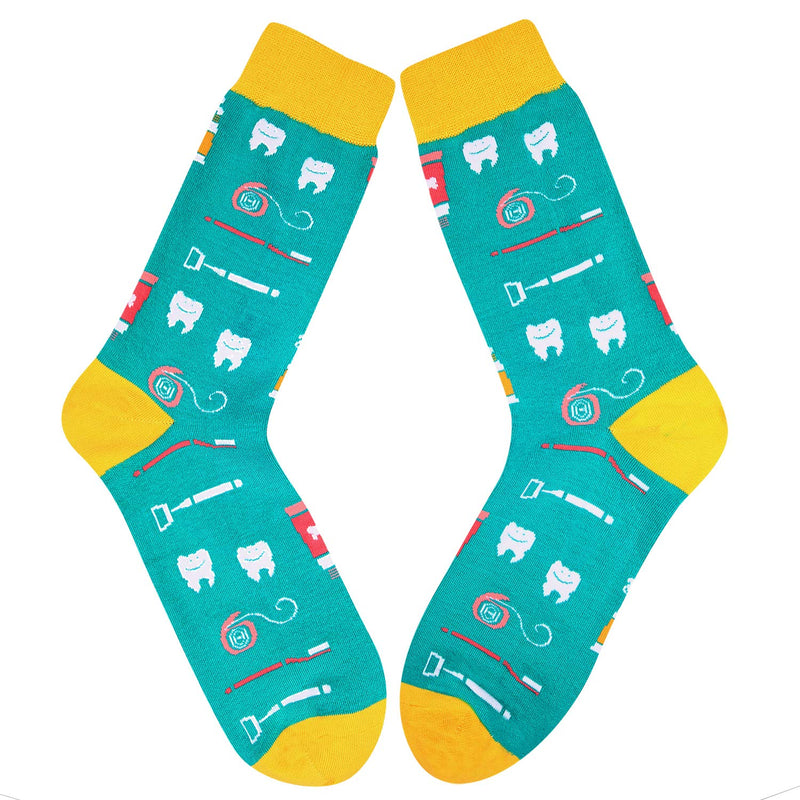 Mens Dental Tooth Care Socks - Happypop