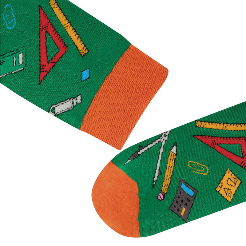 Ruler Pencil School Socks - Happypop