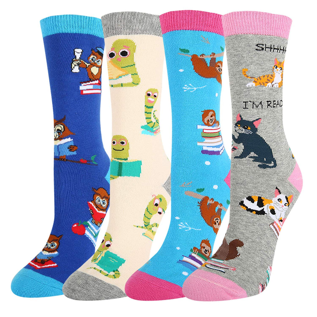 Animal Book Socks Gift Box - Happypop