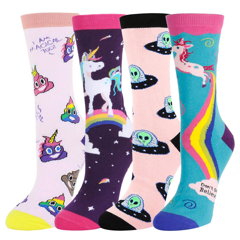 Fairy Unicorn Alien Socks Gift Box - Happypop
