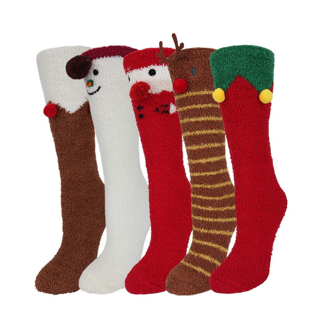 Fluffy Fuzzy Christmas Socks