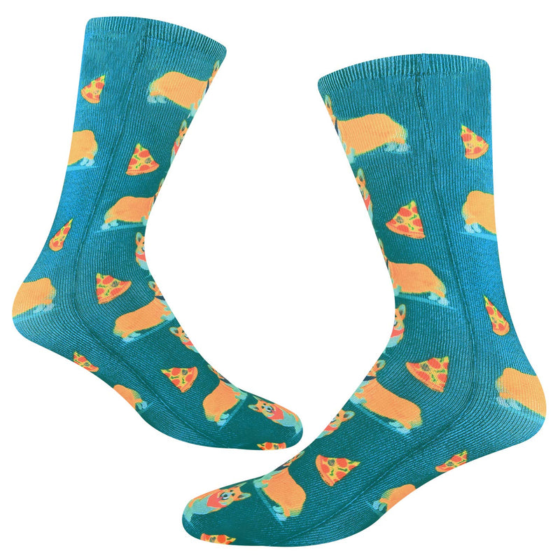 Corgi Pizza Printed Socks - Happypop