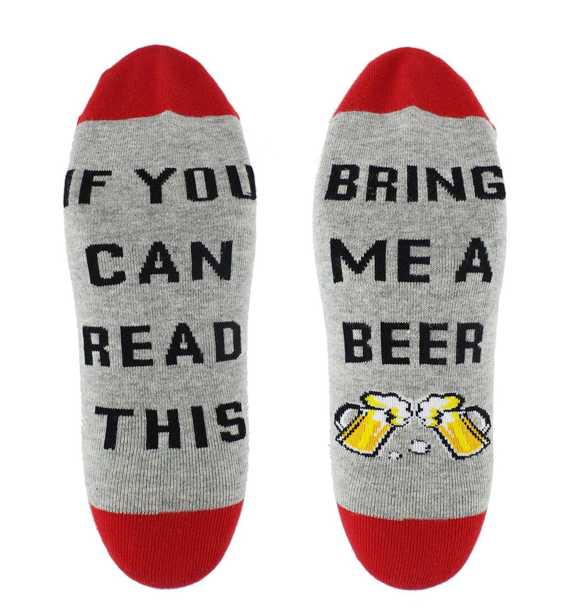 Saying Red Beer Socks - Happypop