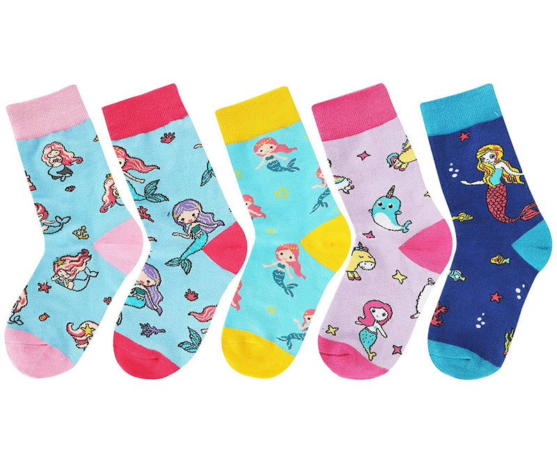 Girls Mermaid Socks Gift Box