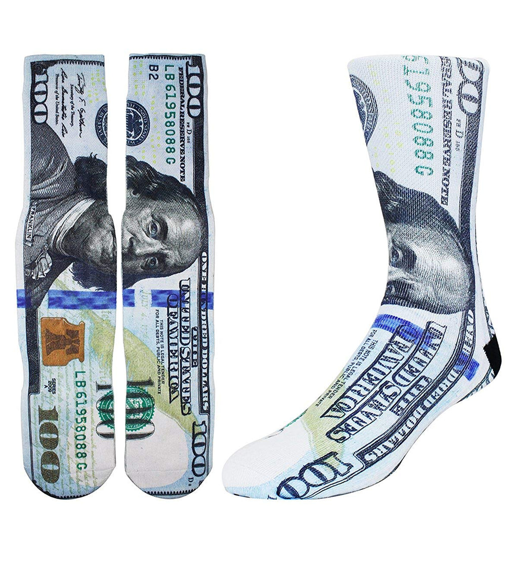 Printed Dollar Socks - Happypop