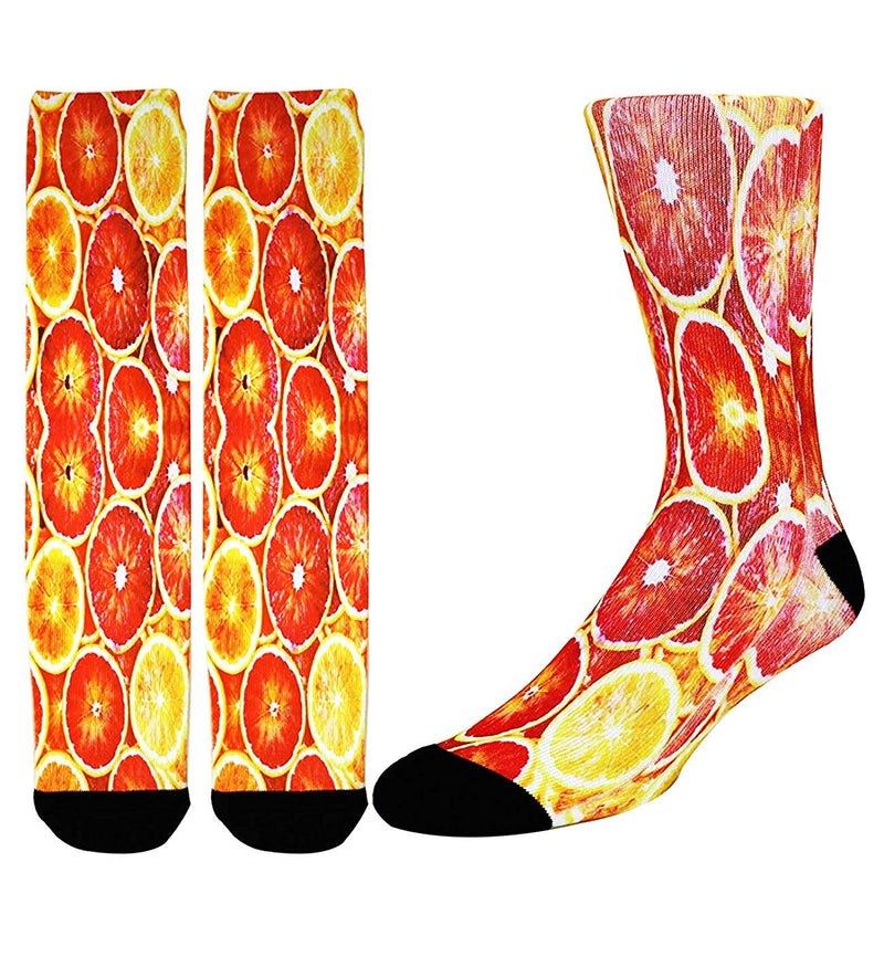 Printed Grapefruit Socks - Happypop