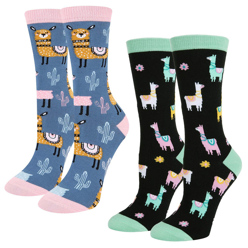 Fun Llama Socks Gift Box - Happypop