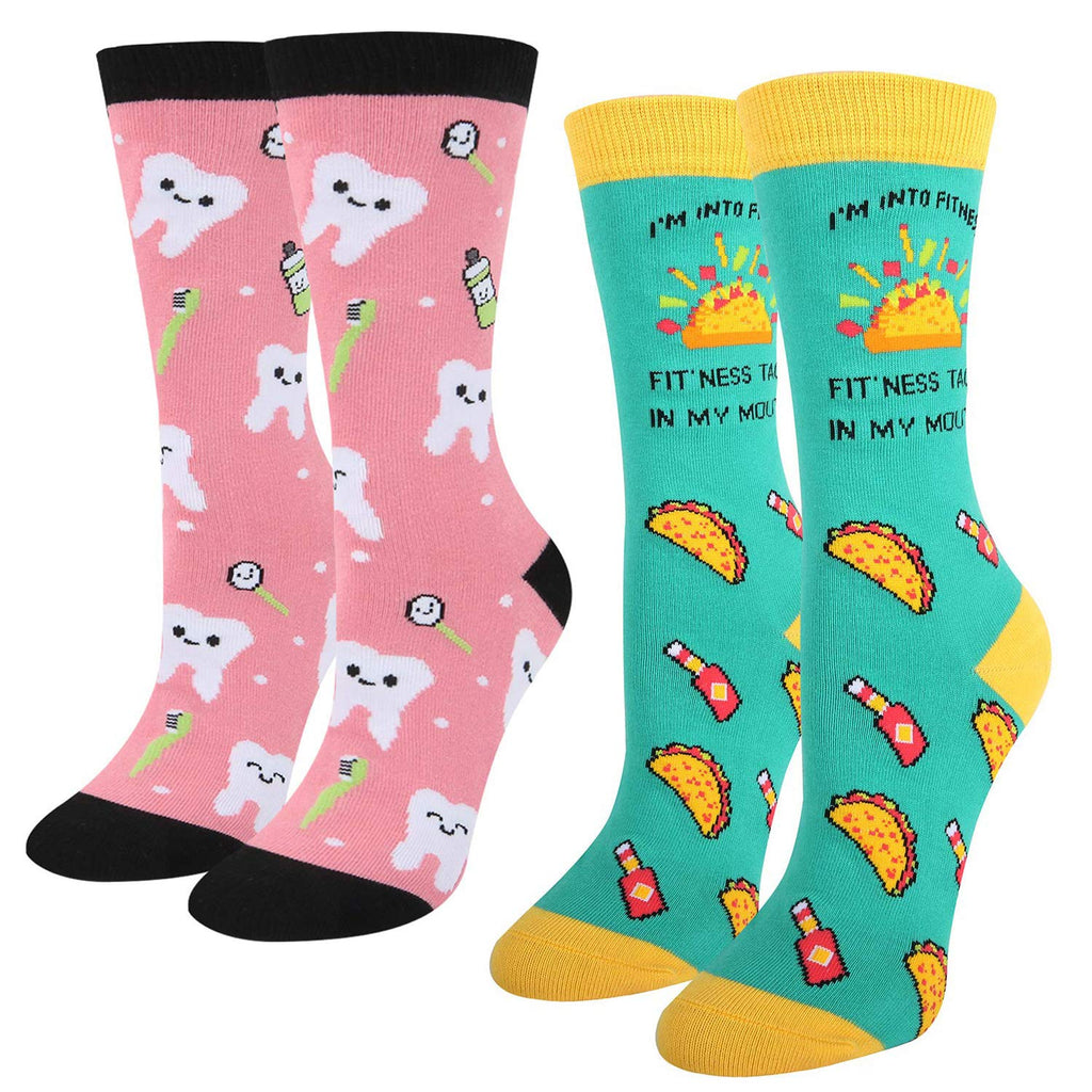 Teeth Taco Socks Gift Box