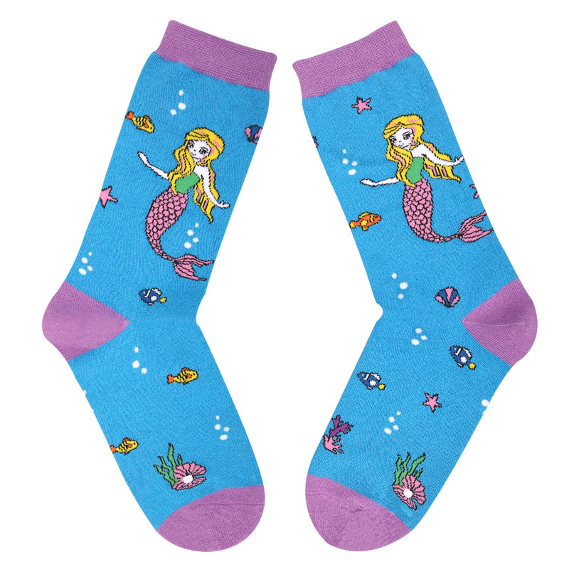 Mermaid And Shell Socks - Happypop