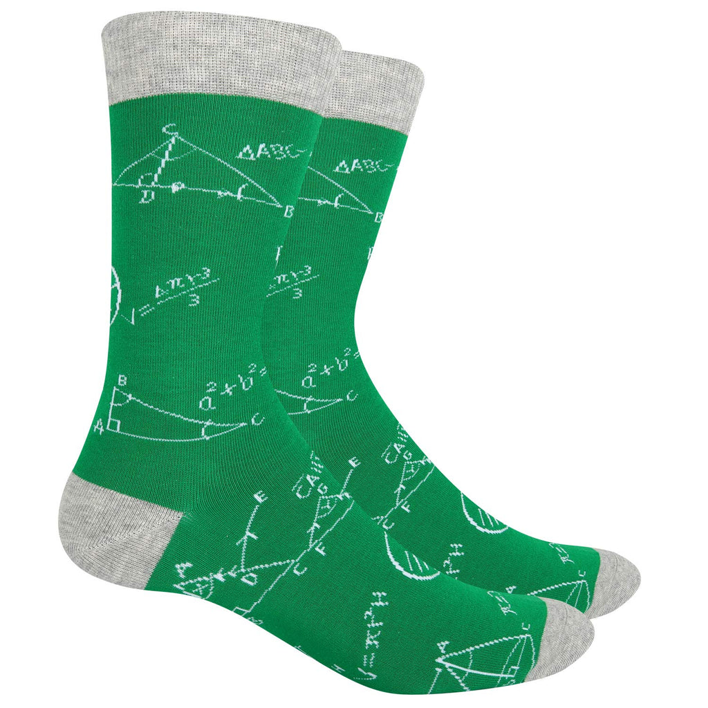 Green Math Socks - Happypop