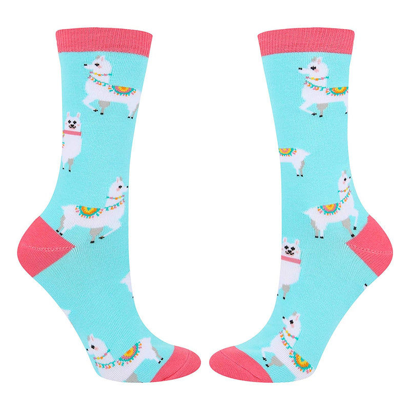 Blue With Llama Socks - Happypop