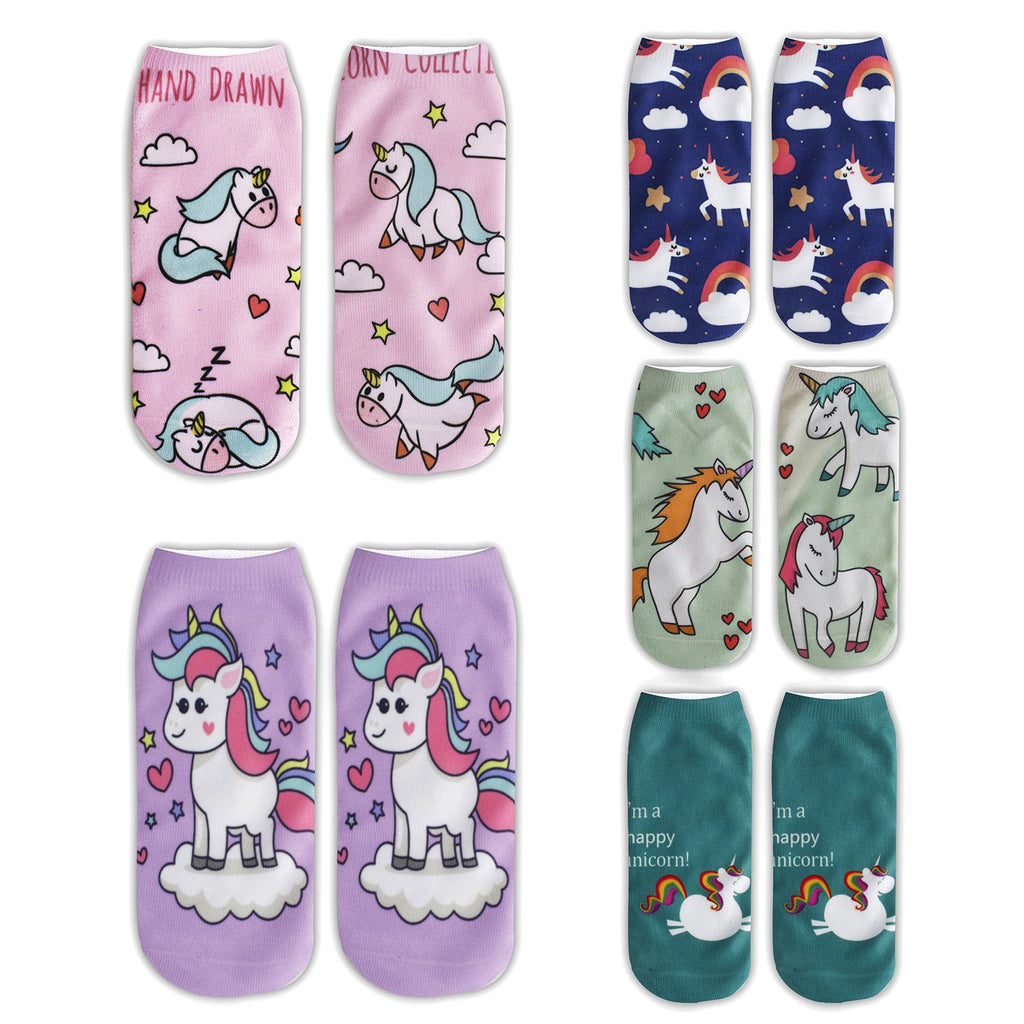 Printed Unicorn Socks - Happypop