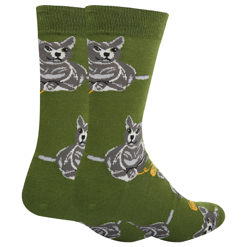 Gray Cat Socks - Happypop