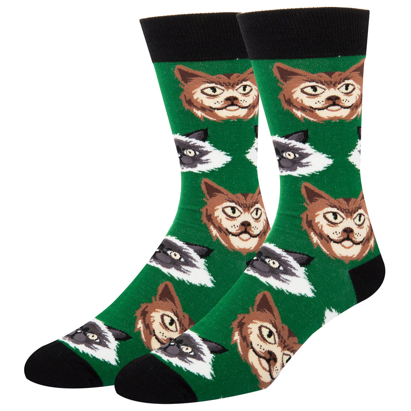 Big Face Cat Socks - Happypop