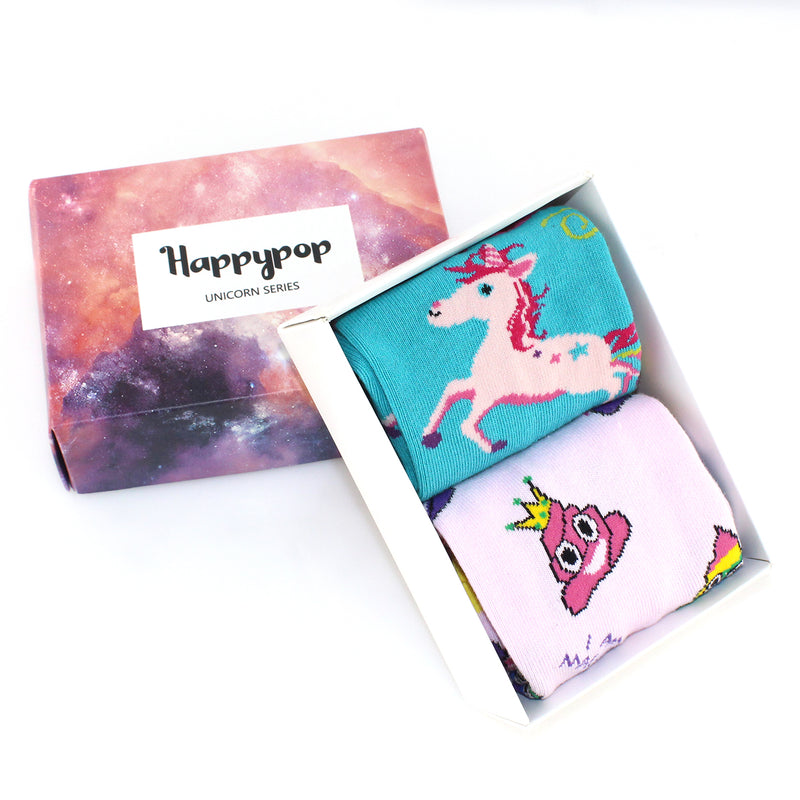 Poop Unicorn Socks Gift Box - Happypop