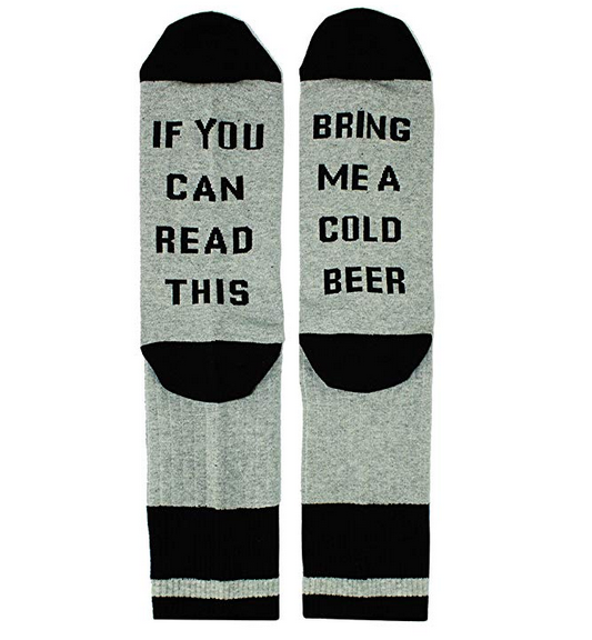 Saying Grey Beer Socks - Happypop