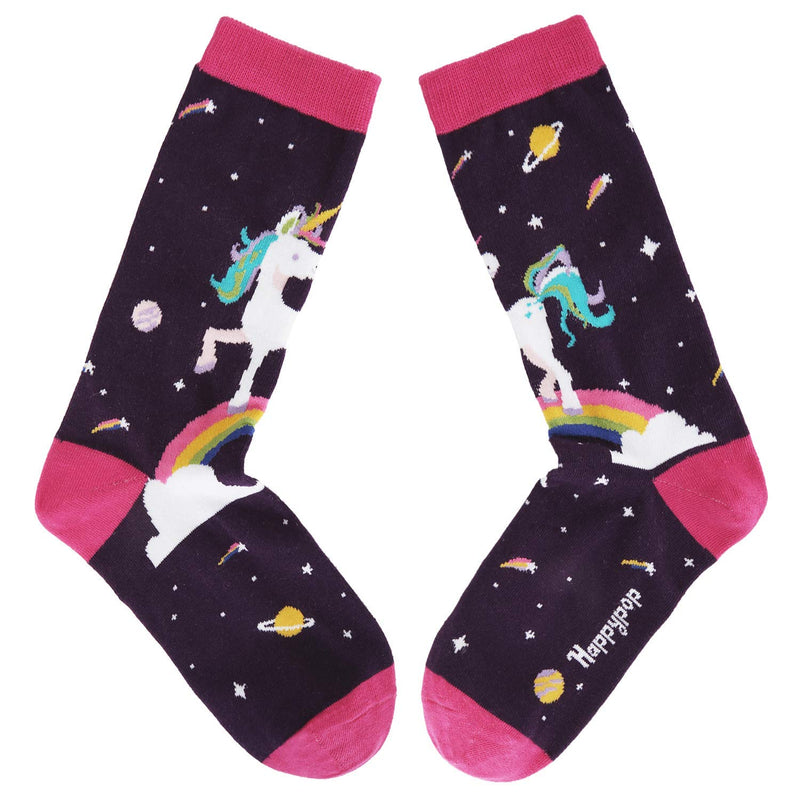 Purple Unicorn Socks - Happypop