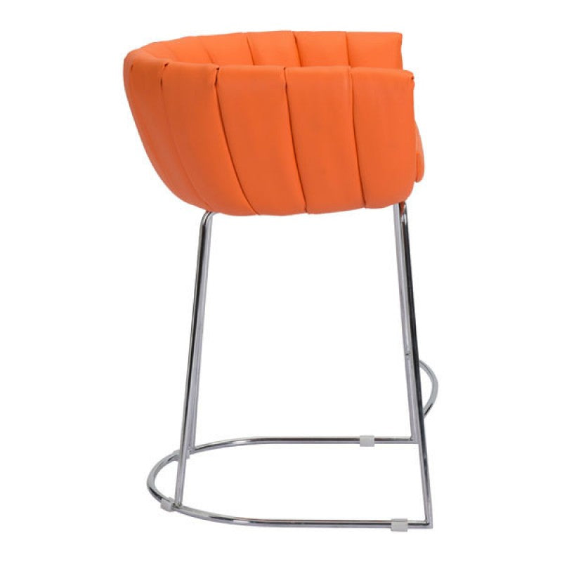 lattice-counter-chair-orange
