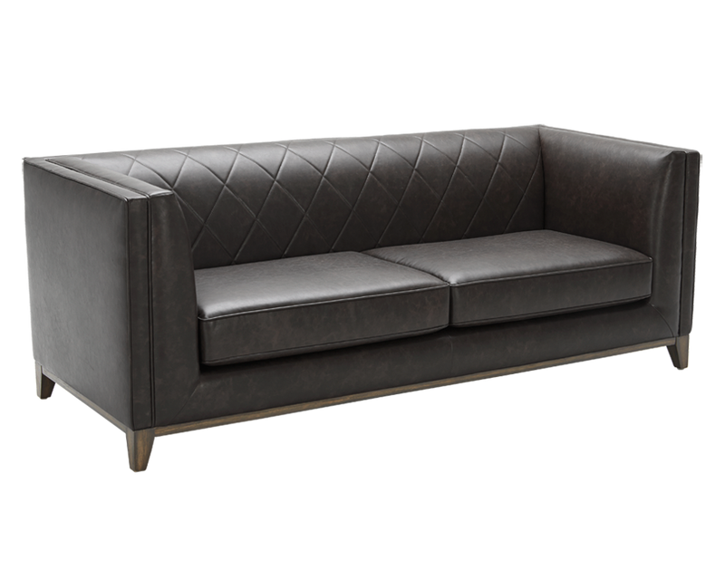 ... This Classically Framed Sofa Incorporates Diamond Stitching On The Seat  Back For A More Transitional Style ...