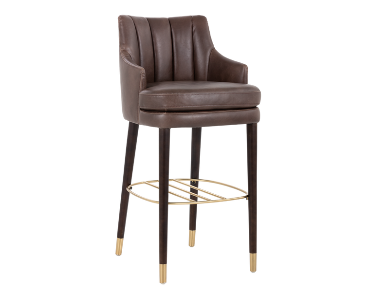 HUNTLEY BARSTOOL DARK BROWN