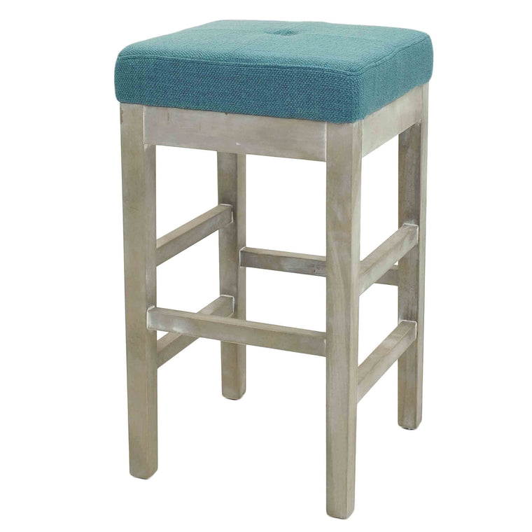 Kieran Backless Counter Stool Mystique Gray Legs, Aegean