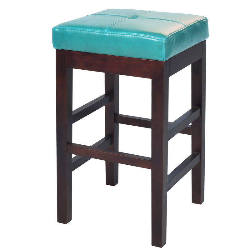 Brilliant Kieran Backless Leather Counter Stool Blue Pabps2019 Chair Design Images Pabps2019Com