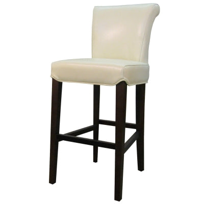 Hahana Leather Counter Stool, Beige