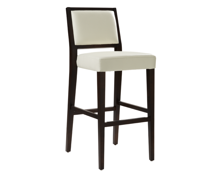 GARCIA BARSTOOL IVORY LEATHER