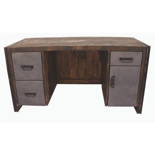 Abran Reclaimed Wood & Metal Desk