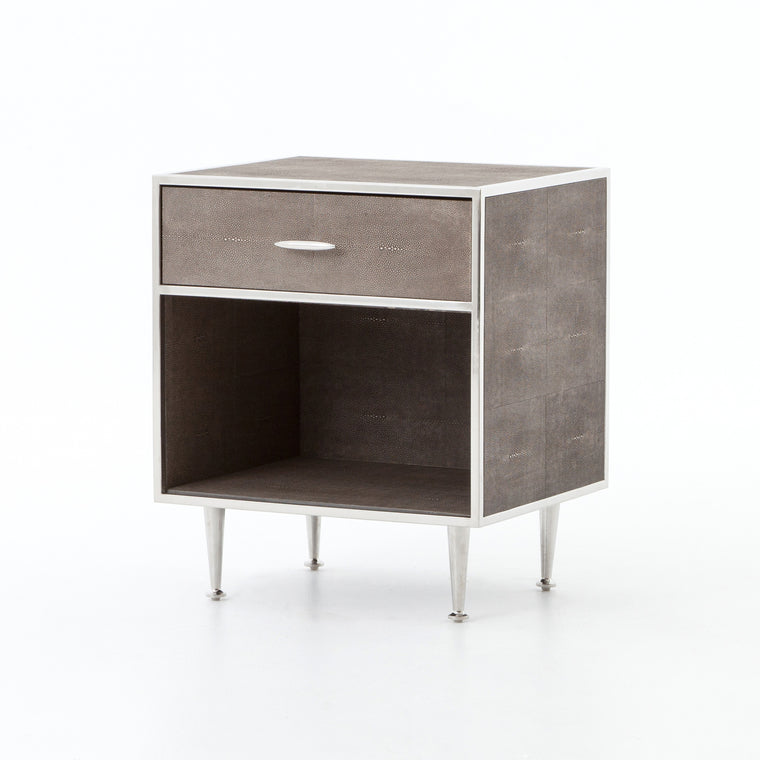 BLOSSOM BEDSIDE TABLE-STAINLESS