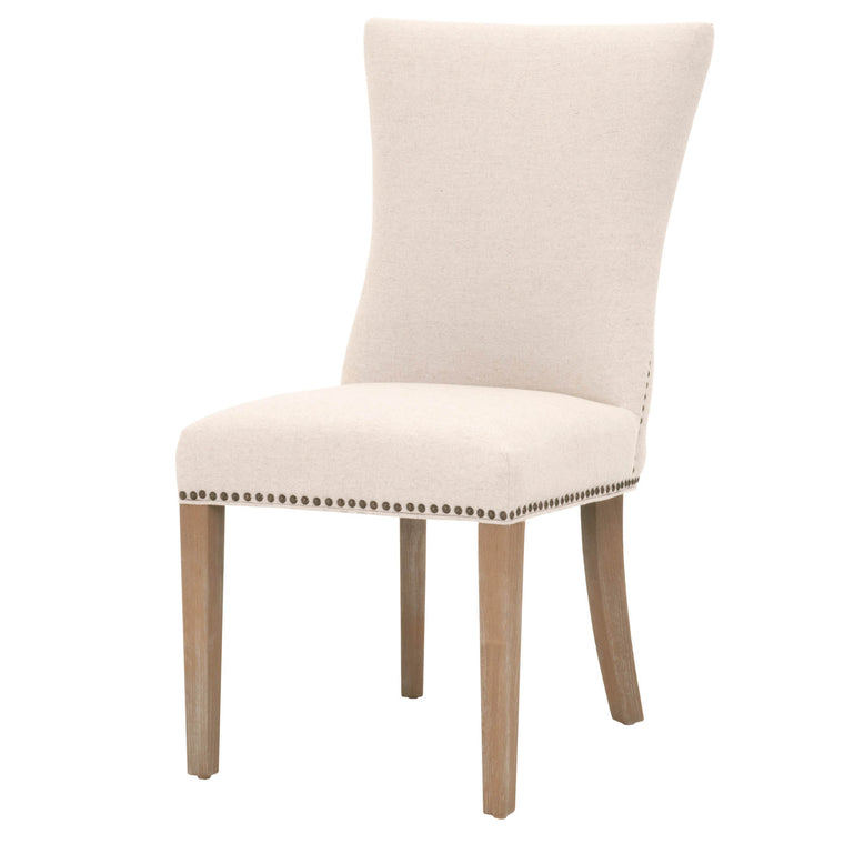 EDWINNA DINING CHAIR JUTE FABRIC, STONE WASH OAK