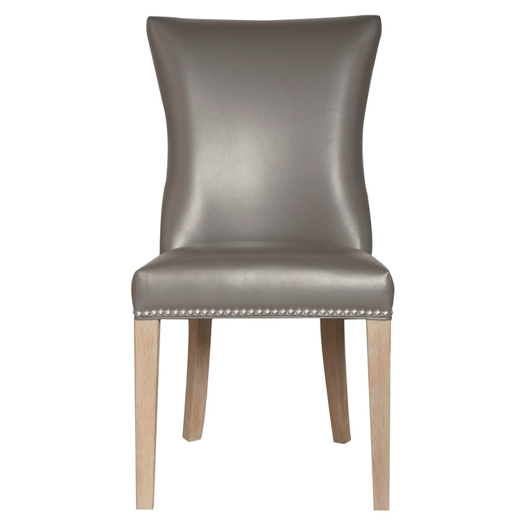 EDWINNA DINING CHAIR PEBBLE BONDED LEATHER