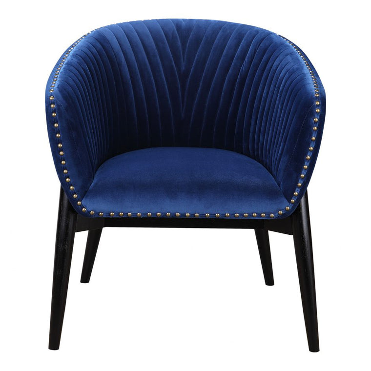 Abby Tub Chair Blue Velvet