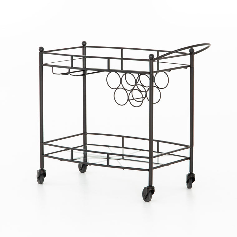 STELLA BAR CART-GUNMTEAL