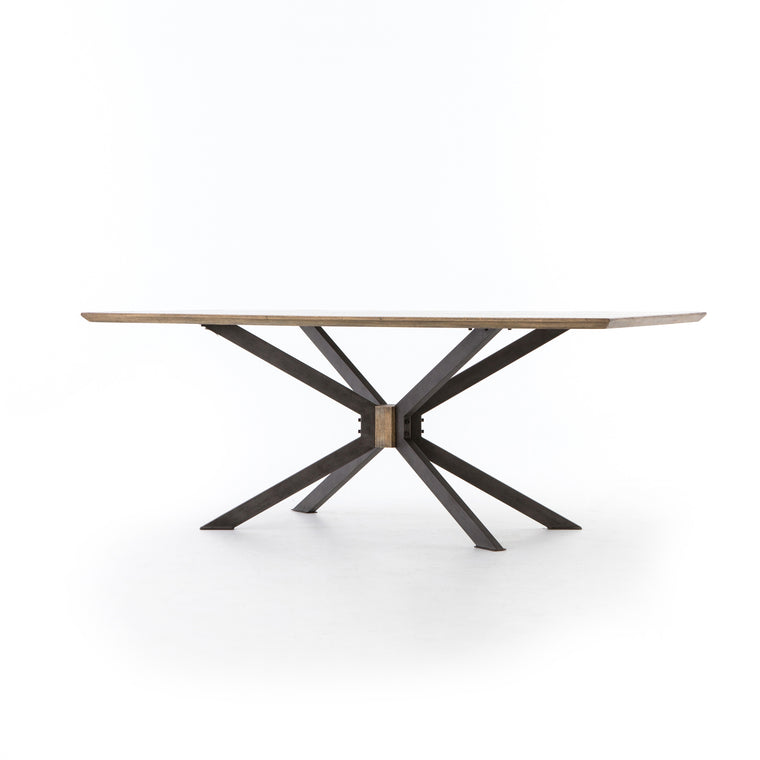 CRAB LEGS DINING TABLE-BRIGHT BRASS-79'