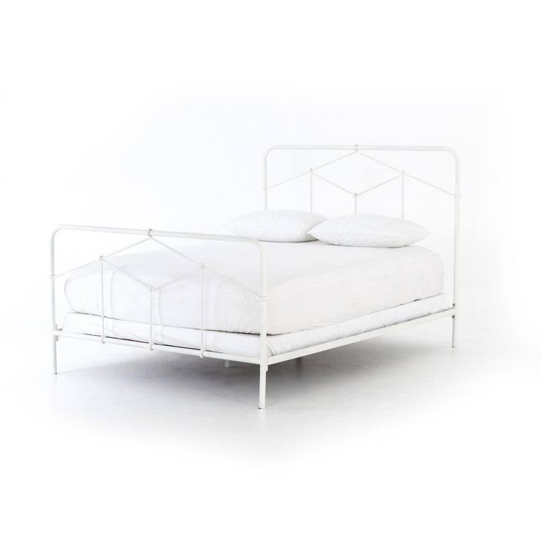 GRETNA BED- WHITE-QUEEN