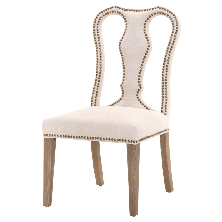 JEMINA DINING CHAIR JUTE FABRIC, STONE WASH OAK