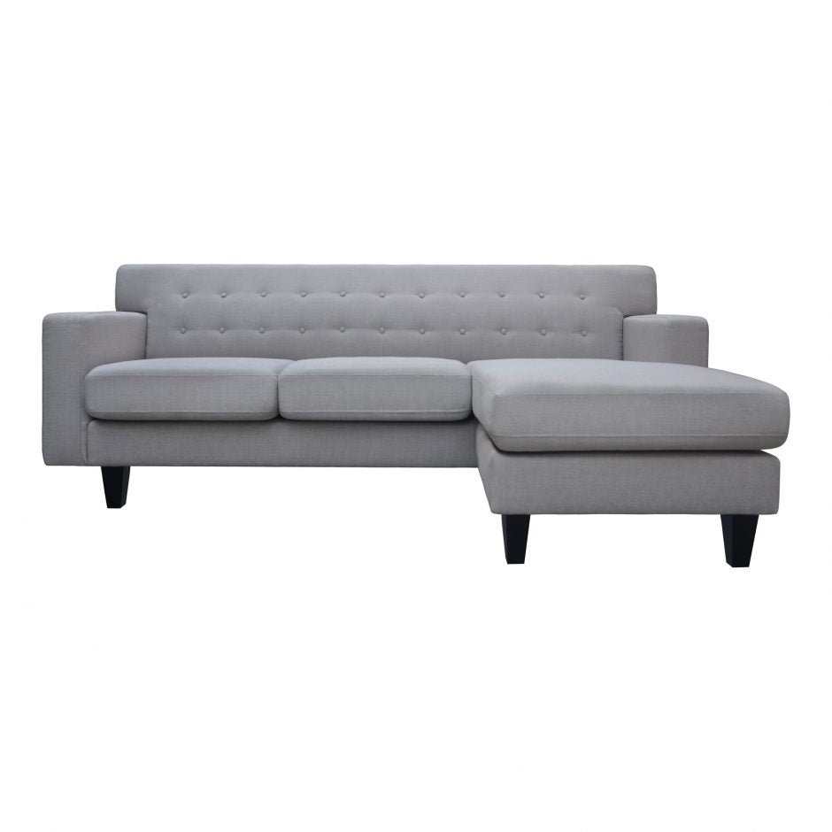Becca  Reversible Sectional Dark Grey