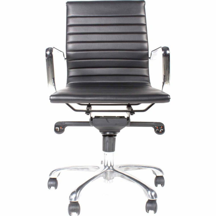Alpha Office Chair Low Back Black-m2