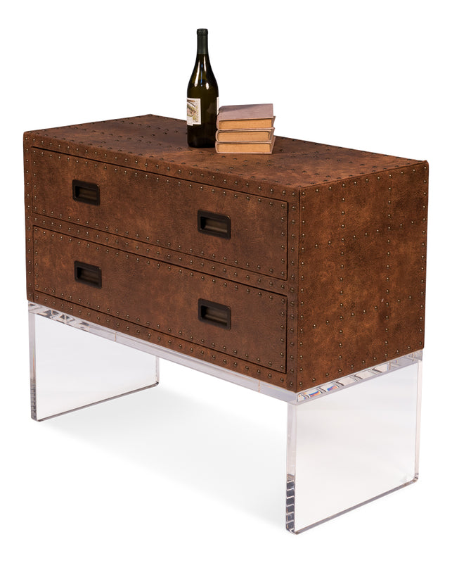 Kampos Brass Tack Chest On Stand