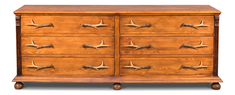 Hunters Antlers Double Cabinet