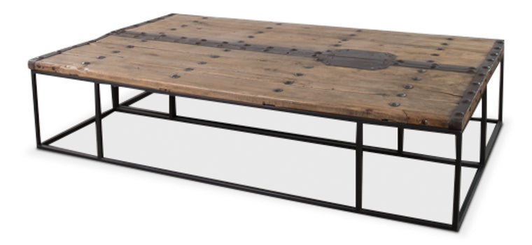 Lakelyn Antique Doors Coffee Table