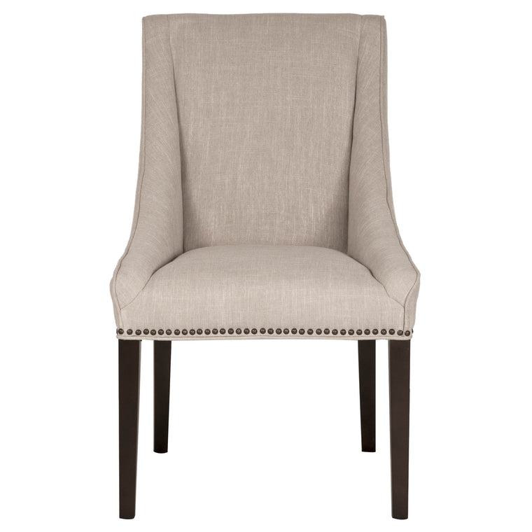 MORTEN DINING CHAIR BIRCH FABRIC, ESPRESSO