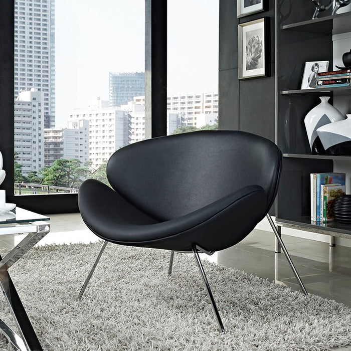 irvette-upholstered-vinyl-lounge-chair-in-black