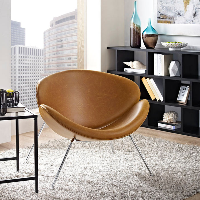 irvette-upholstered-vinyl-lounge-chair-in-tan