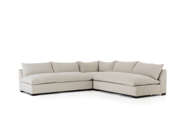 AARONS 3 PIECE SECTIONAL SOFA