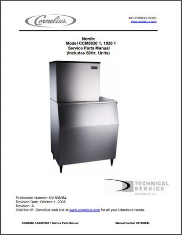 Nordic CCM0830, 1030 Ice Maker Spec Sheet