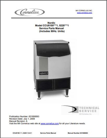 Nordic CCU0150, 0220 Ice Maker Spec Sheet