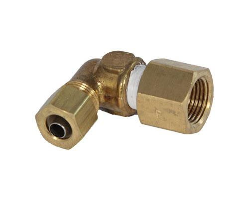 Brass 3/8 Barb X 3/8 FFL Elbow
