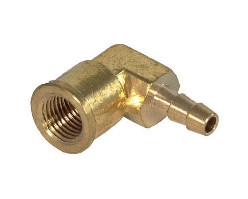 Brass 1/4 Barb X 1/4 FFL Elbow